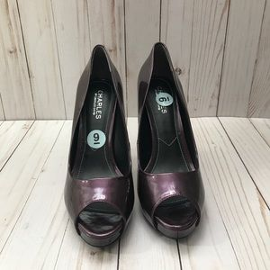 Charles David Open Toe Platform Shoes